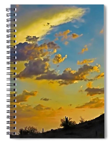 Y Cactus Sunset 10 Spiral Notebook