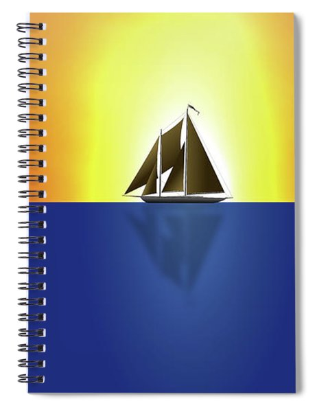 Yacht In Sunlight Spiral Notebook