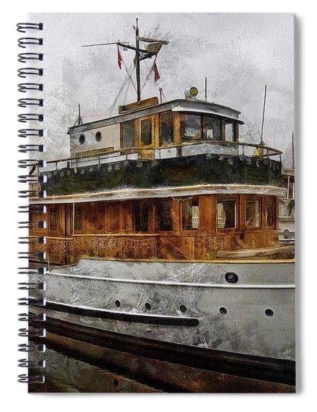 Yacht M V Discovery Spiral Notebook
