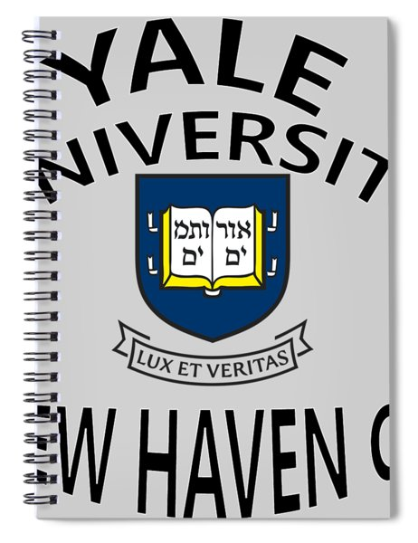 Spiral Notebook featuring the digital art Yale University New Haven Connecticut  by Movie Poster Prints