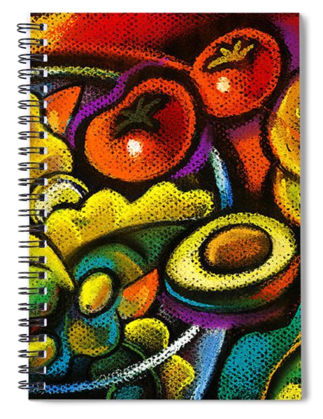 Healthy Organic Salad Spiral Notebook
