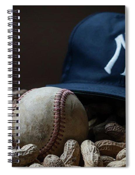 Yankee Cap Baseball And Peanuts Spiral Notebook