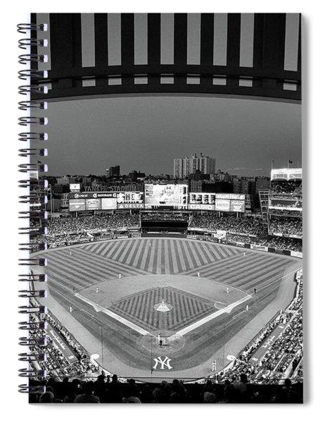 Yankee Stadium 2 - B And W Spiral Notebook