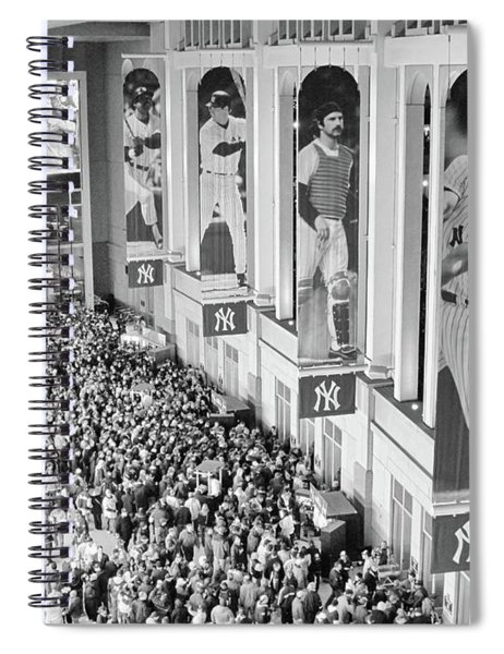 Yankee Stadium Great Hall 2009 World Series Black And White Spiral Notebook