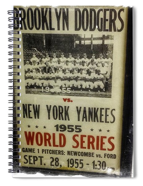 Yankees And Dodgers World Series 1955 Spiral Notebook