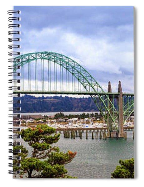 Yaquina Bay Bridge Panorama Spiral Notebook