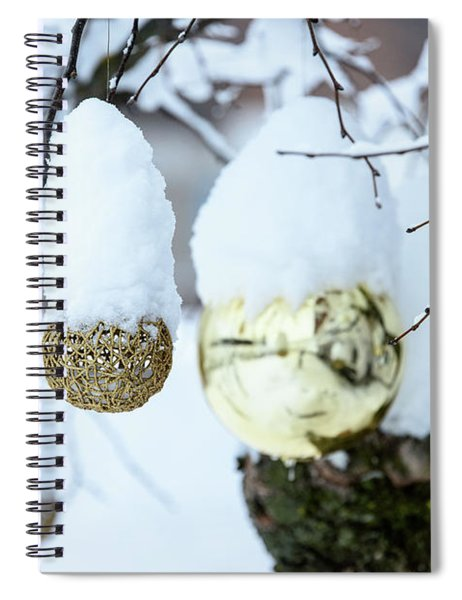 Yarn Ball In The Snow Spiral Notebook