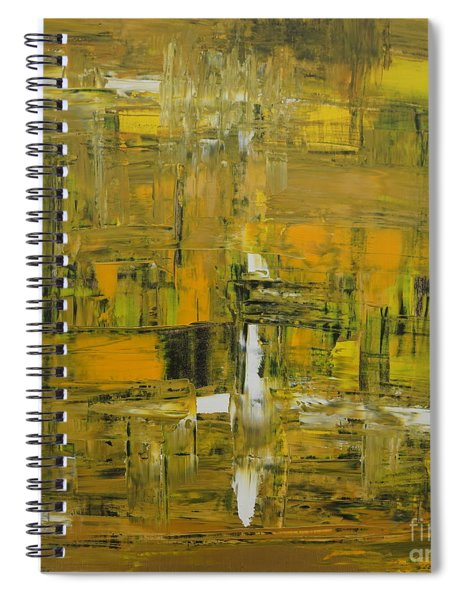 Yellow And Black Abstract Spiral Notebook