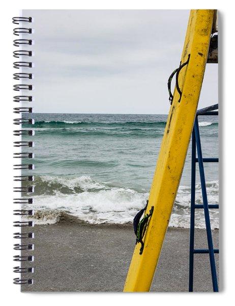 Yellow Surfboard Spiral Notebook