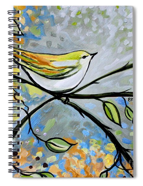 Yellow Bird Among Sage Twigs Spiral Notebook