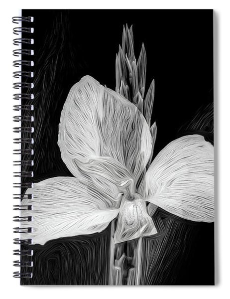 Yellow Black And White Spiral Notebook