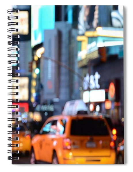 Yellow Cabs At Time Square In New York Spiral Notebook