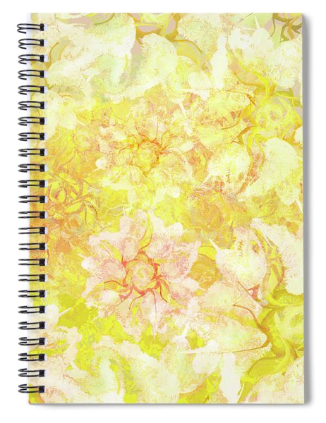 Yellow Camellia Hedges Spiral Notebook