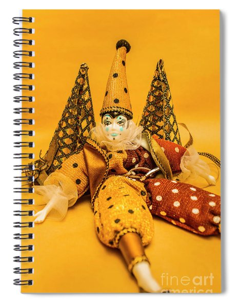 Yellow Carnival Clown Doll Spiral Notebook