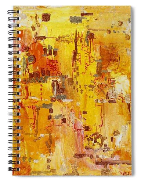 Yellow Conundrum Spiral Notebook