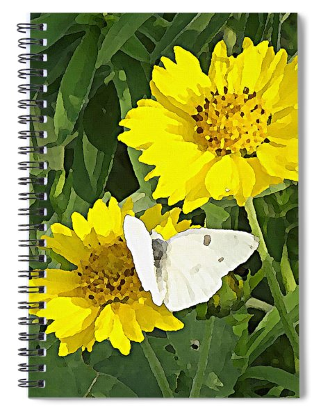Yellow Cow Pen Daisies Spiral Notebook