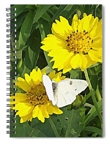 Yellow Cow Pen Daisies Spiral Notebook