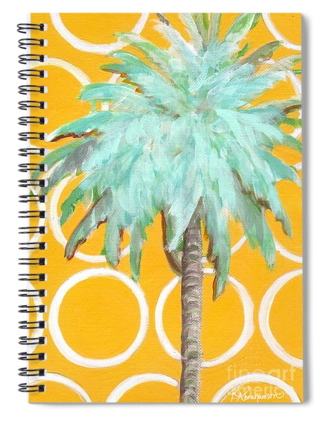 Yellow Delilah Palm Spiral Notebook