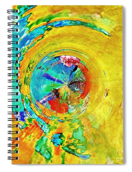 Yellow Eclipse  Spiral Notebook