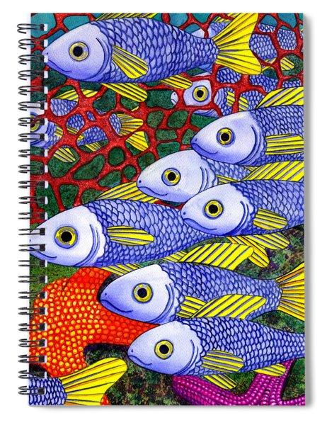 Yellow Fins Spiral Notebook
