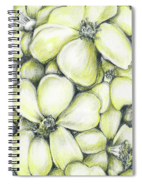 Yellow Flowers Pencil Spiral Notebook