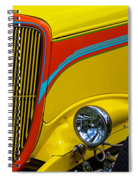Yellow Ford Hot Rod Spiral Notebook