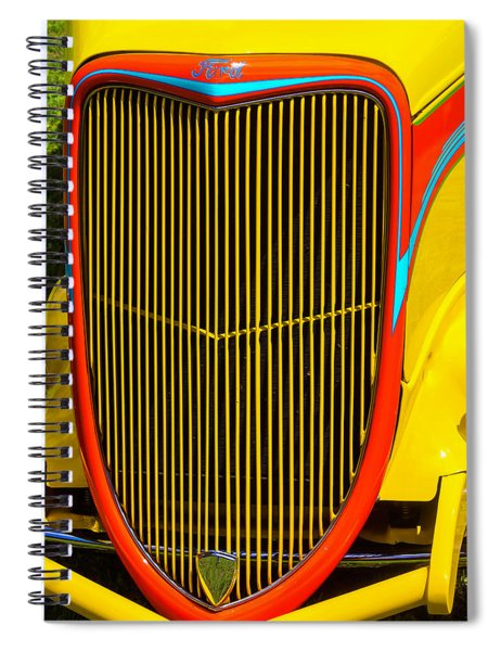 Yellow Ford Hot Rod Grill Spiral Notebook