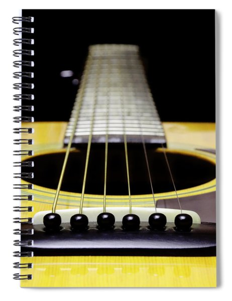 Yellow Guitar 17 Spiral Notebook