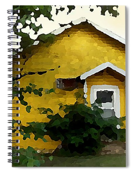 Yellow House In Shantytown  Spiral Notebook