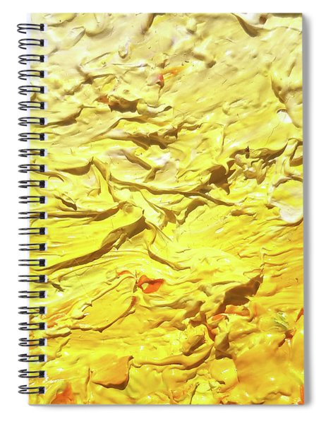 Yellow Ombre Abstract Contemporary Style Minimalist Monochrome Design Bold Color Chic Oil Painting   Spiral Notebook