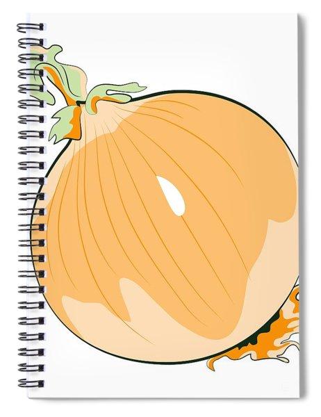 Yellow Onion Spiral Notebook