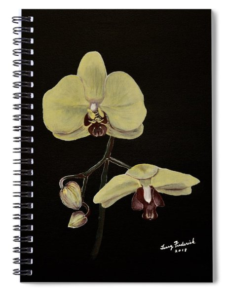 Yellow Orchid Spiral Notebook