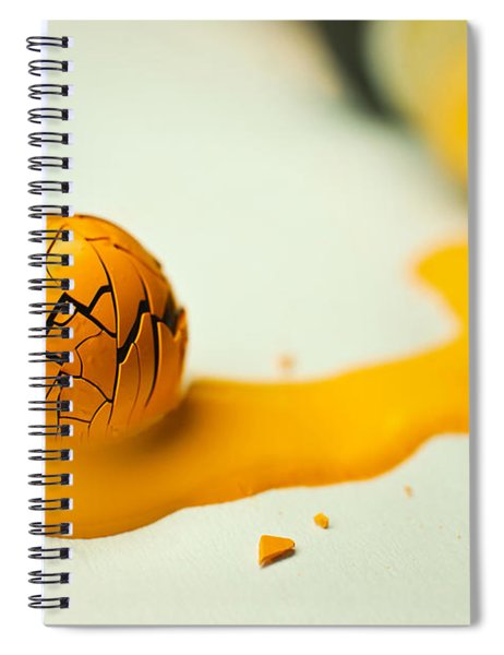 Yellow Painted Ball Spiral Notebook