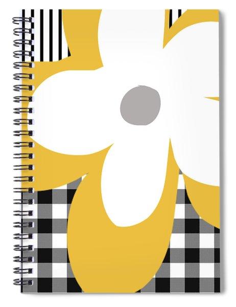 Yellow Picnic Flower- Art By Linda Woods Spiral Notebook