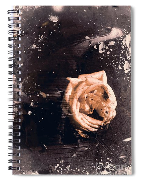 Yellow Rose Pier Spiral Notebook