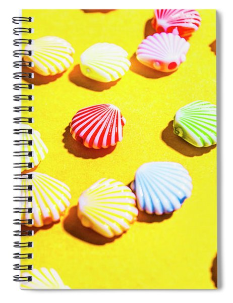 Yellow Seaside Scenes Spiral Notebook