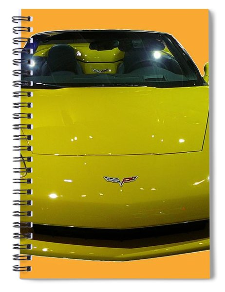 Yellow Sports Car Front Spiral Notebook