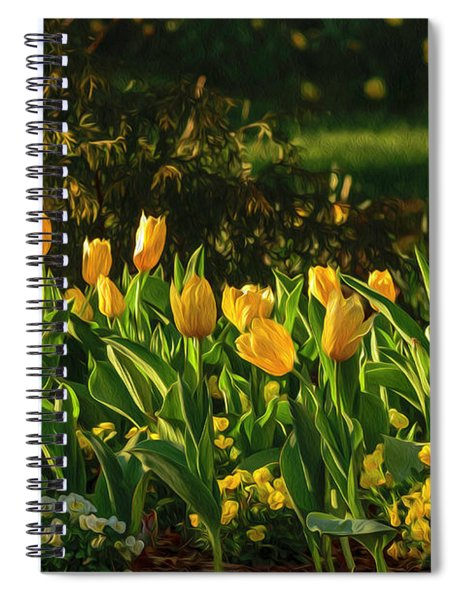 Yellow Spring Fever Spiral Notebook