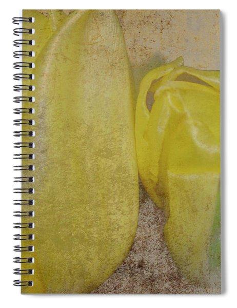 Yellow Strands Spiral Notebook