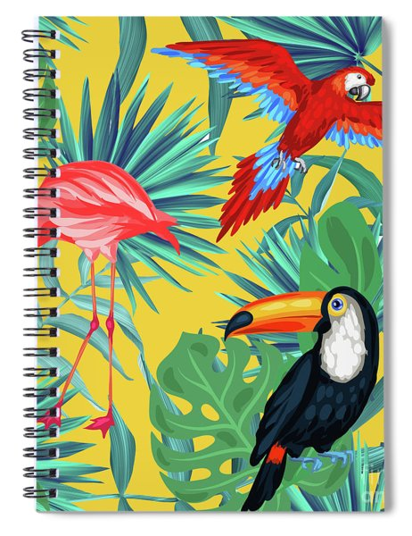 Yellow Tropic  Spiral Notebook