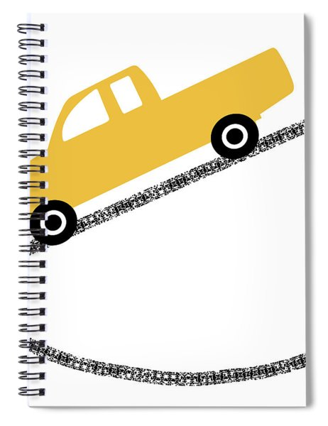 Yellow Truck On Road- Art By Linda Woods Spiral Notebook