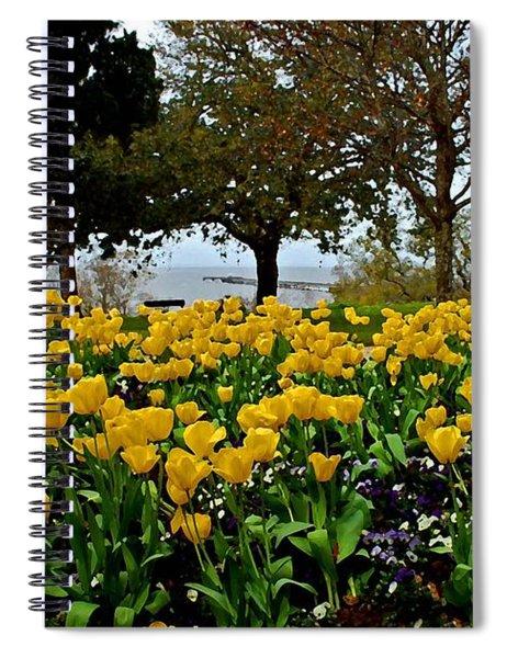 Yellow Tulips Of Fairhope Alabama Spiral Notebook