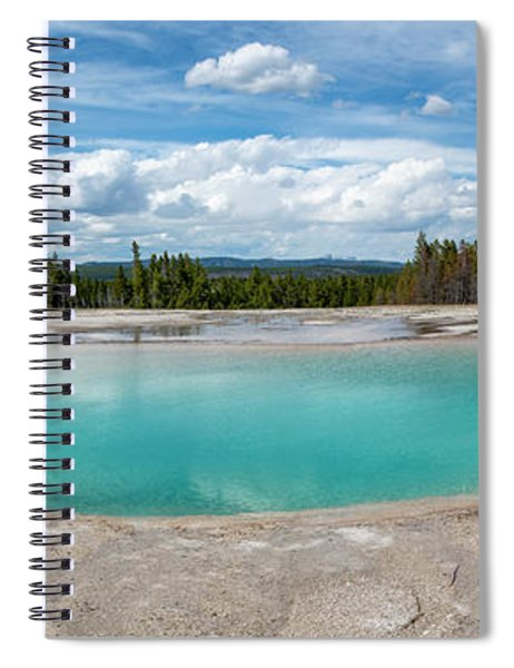 Spiral Notebook featuring the photograph Yellowstone Colors #11 by Scott Read