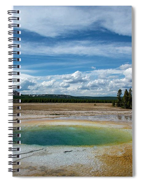 Spiral Notebook featuring the photograph Yellowstone Colors #12 by Scott Read
