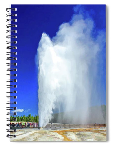 Yellowstone National Park Beehive Geyser Spiral Notebook