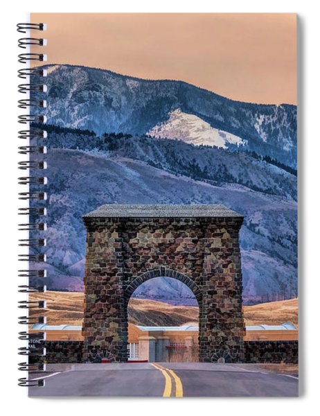 Yellowstone National Park North Entrance Spiral Notebook by Christopher Arndt