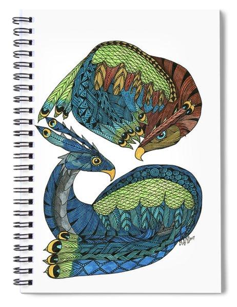 Yin Yang Dragons Spiral Notebook