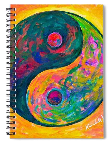 Yin Yang Flow Spiral Notebook