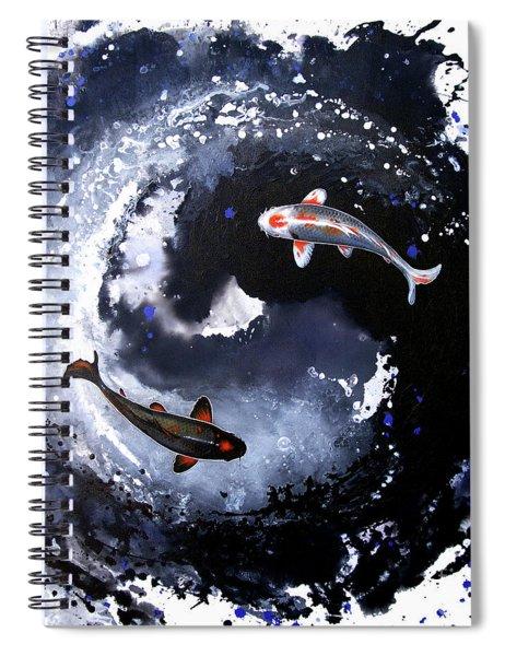 Yin - Yang Spiral Notebook