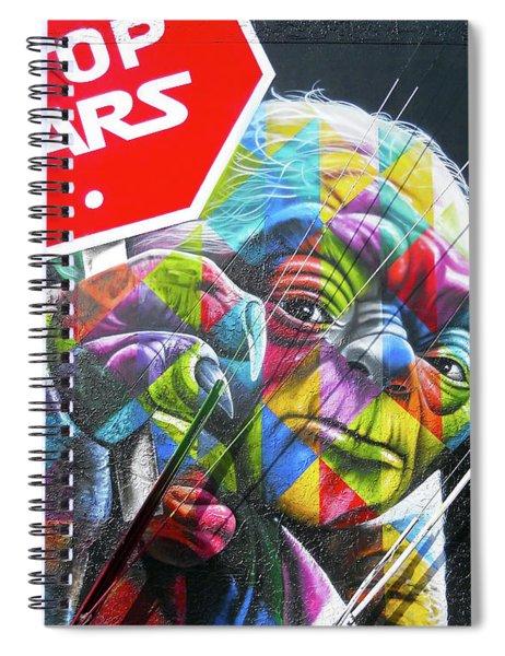 Yoda - Stop Wars Spiral Notebook